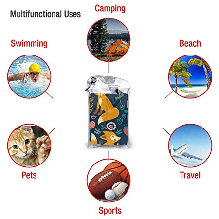 Fast Quick Dry Gym Towel Absorbent Yoga//Sports Backpacking Beach Compact /& Lightweight Waldeal Floral Fox Natural Microfiber Travel Towel Hiking 15.7 x 31.5 Inches Hand Towel for Camping
