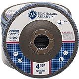 "4.5"" x 7/8"" Premium Zirconia Flap Disc Grinding Wheel 120 Grit Type 29-10 Pack"