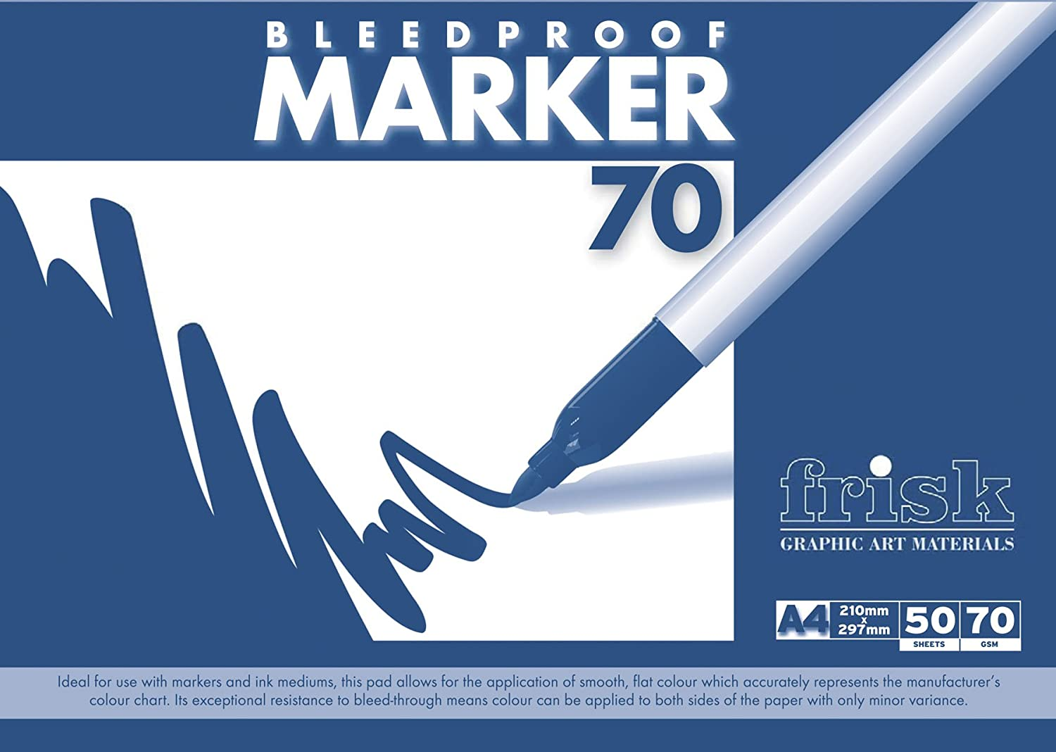 The Society for All Artists Frisk - Fogli Bleedproof Marker, 70 gm, formato A4, 50 fogli 23169704