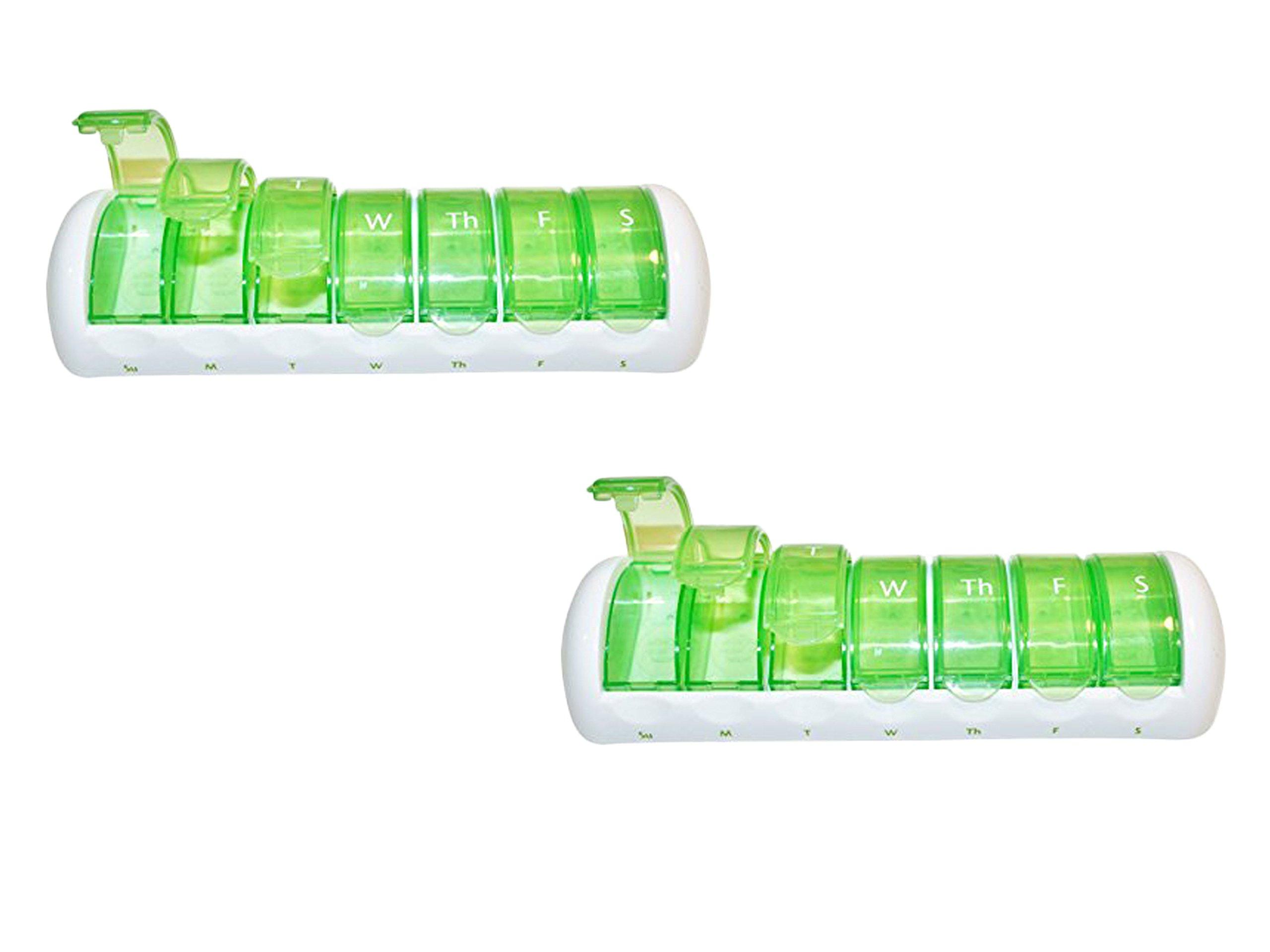 Set of 2 Ezy-Doseª 7-Day Travel Pill Pod Bundled by Maven Gifts