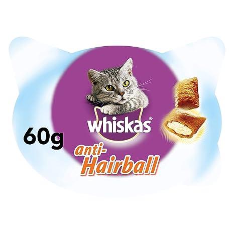 whiskas Anti-Hairball de 60g para Bolas de Pelo de Uso Diario para ...