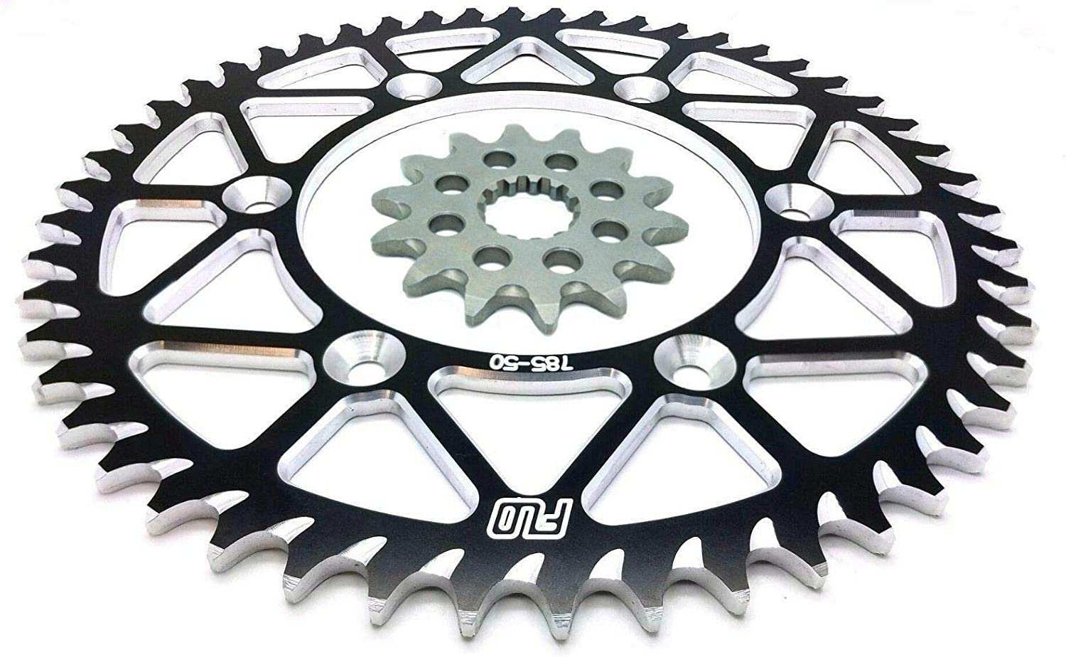 50T, Black REAR SPROCKET 48-53 TOOTH GREEN//BLACK// BLUE RENTHAL R1 Chain and Sprocket Combo Kit KAWASAKI KX450F FRONT SPROCKET 14T