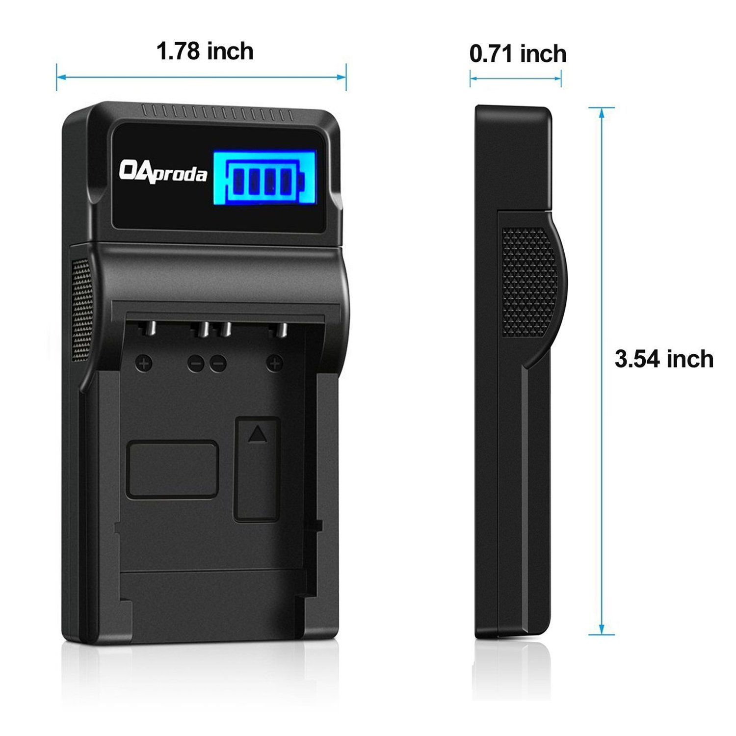 OAproda BLS-5 Batteries (2 Pack) and LCD USB Charger for Olympus BLS-5, BLS-50, PS-BLS5 and Olympus OM-D E-M10 III, E-M10 II, E-M10, PEN E-PL9, E-PL8, E-PL2, E-PL3, E-PL6, E-P3, E-PM1, E-PM2, Stylus 1 by OAproda (Image #3)