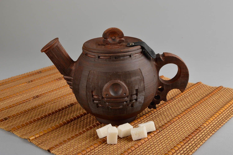 Handmade Ceramic Teapot Beautiful Clay Teapot Design Pottery Kitchenware