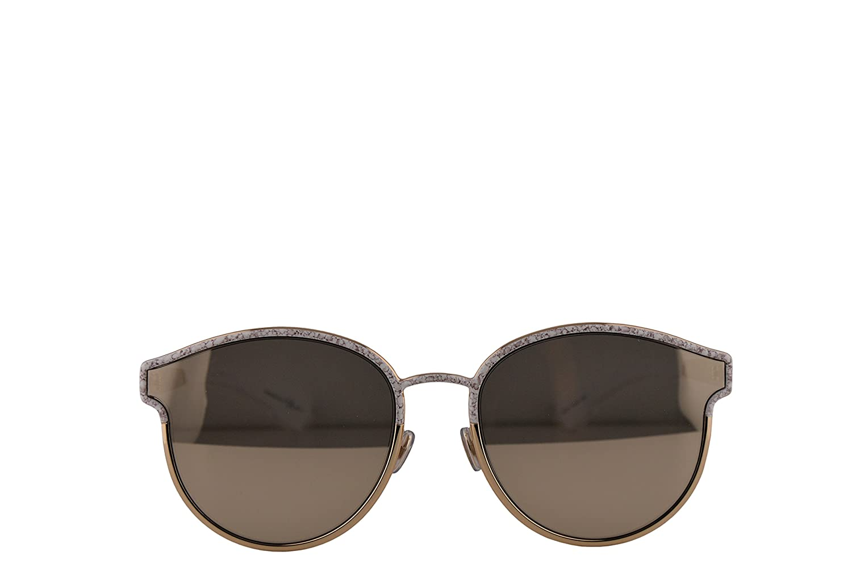 db9c6d5961 Amazon.com  Christian Dior DiorSymmetric Sunglasses White Marble Gold  w Ivory Mirror Lens 59mm GBZQV DiorSymmetrics DiorSymmetric s Dior Symmetric   Clothing