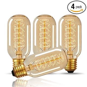 doresshop t45 40w vintage antique light bulbs warm white e26 edison tubular style bulb - Antique Light Fixtures