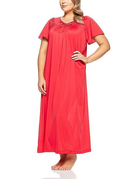 a24c8c56c751b Shadowline Women s Plus-Size Petals 53 Inch Short Flutter Sleeve Long Gown   Amazon.ca  Clothing   Accessories
