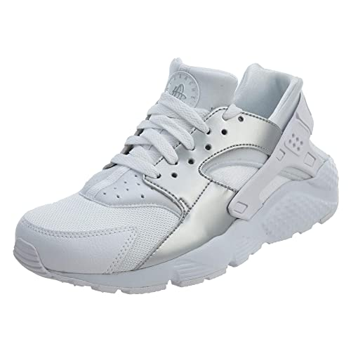 afc3c117bf Nike Juniors - Huarache Run (GS) - Triple White Silver - UK 5.5 ...