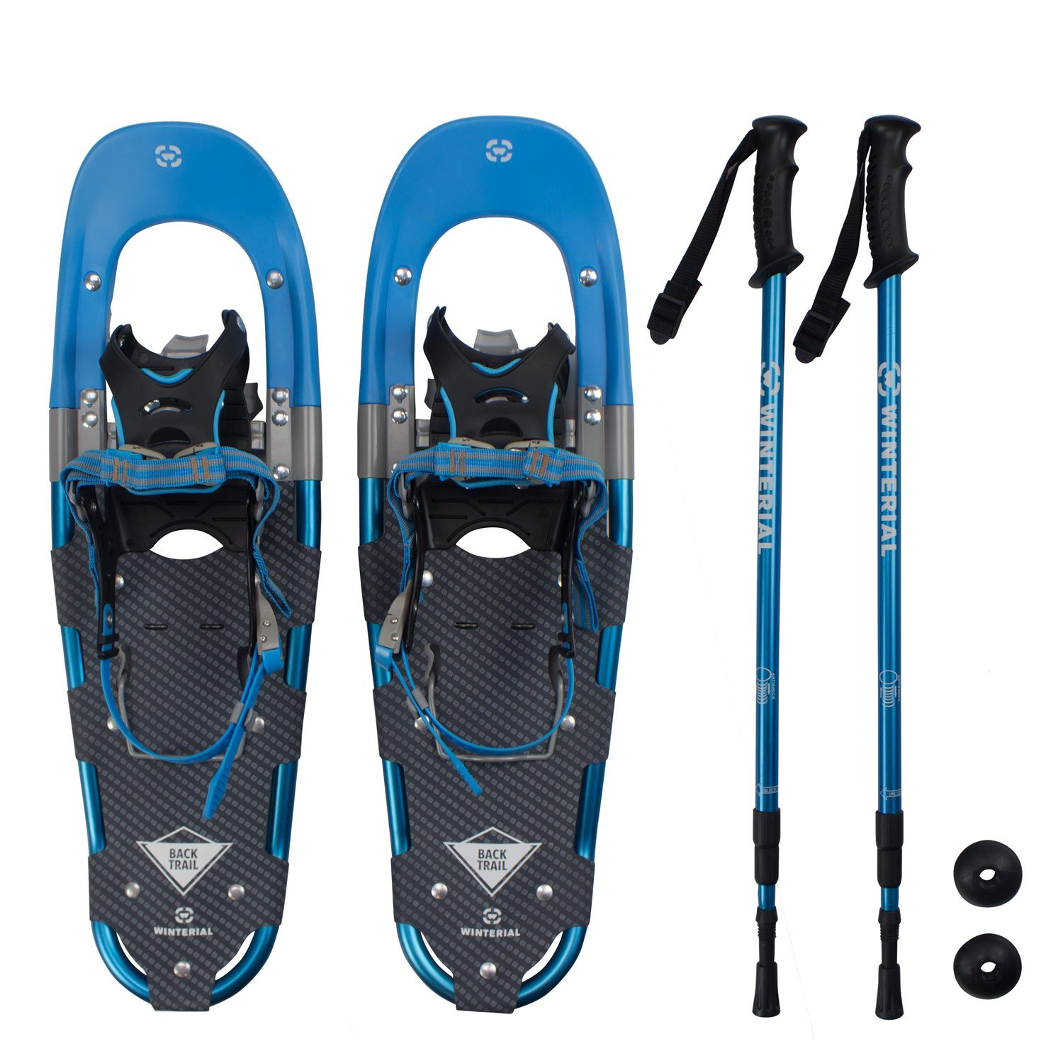 Winterial Back Trail Snowshoes/Recreational Snowshoes/Snowshoeing/Snowshoe/Backcountry Snowshoeing/Rolling Terrain Snowshoes/POLES INCLUDED! by Winterial