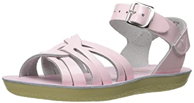 d057f94a6 Salt Water Sandals by Hoy Shoe Girls  Strappy-K Flat Sandal Shiny Pink 5
