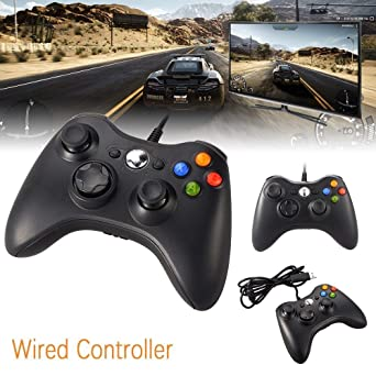 Game Controller Gamepad USB Wired Shoulders Buttons Improved