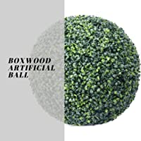 "Artificial Boxwood Ball, Amazing 19"" Faux Topiary Ball, Outdoor/Indoor Artificial Plant Large Topiary Balls for Wedding Decor and Home Decor (1 Pc 19 Inch Boxwood Ball) (19inch Boxwood Faux Ball)"
