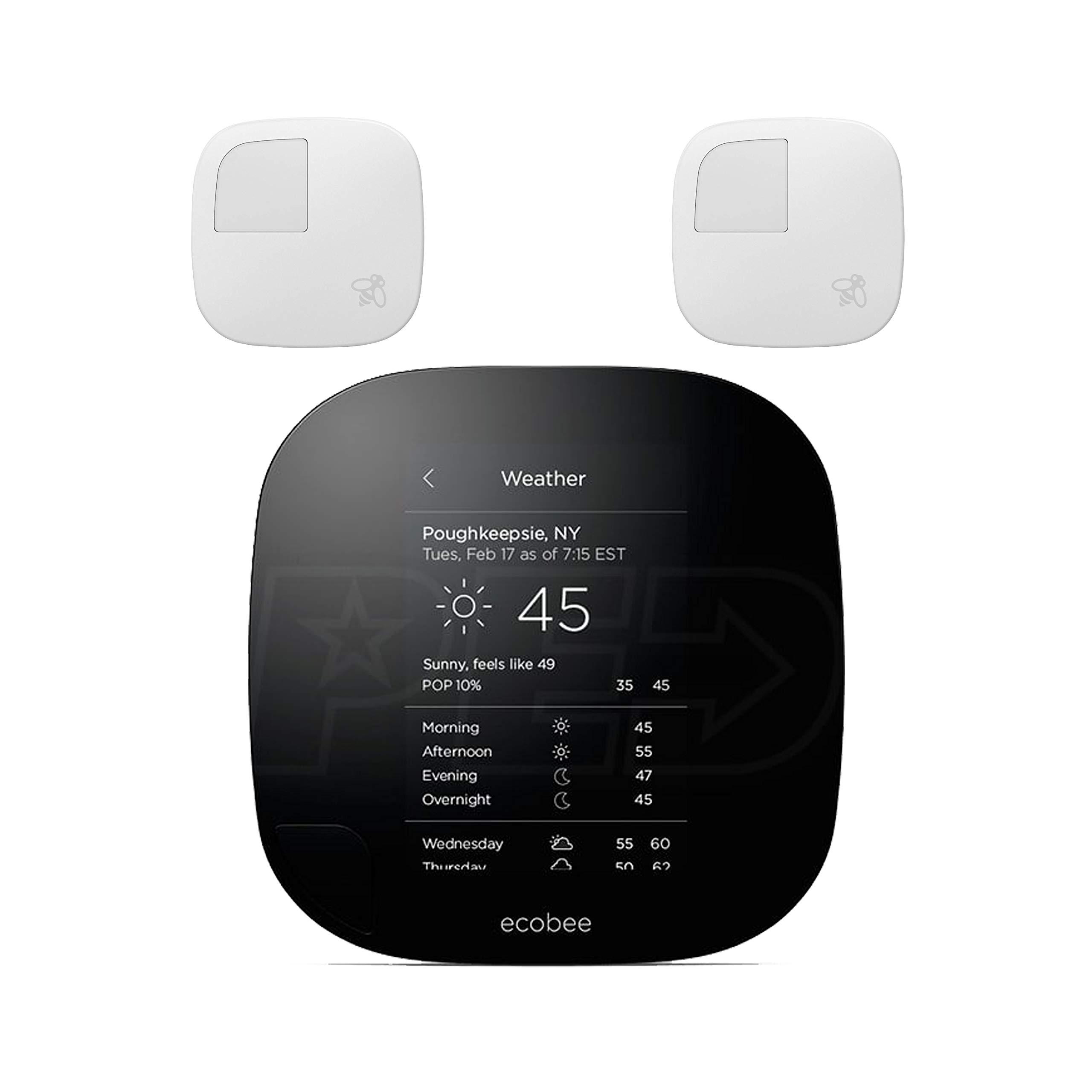 ecobee 3 Lite Smart Thermostat 2nd Gen with 2 Room Sensors
