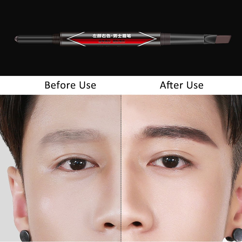 Eyebrow Grooming Suit Kits 6pcs Professional Black Eyebrow Pen