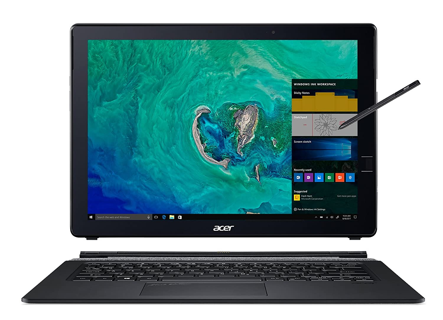 "Acer Switch 7 Black Edition, 13.5"" 2256 x 1504 Touch, 8th Gen Intel i7-8550U, 16GB LPDDR3, 512GB SSD, Windows 10 Pro, Acer Active Stylus, SW713-51GNP-879G"