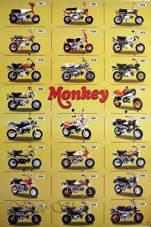 Amazon.com: j-1786 Honda overol Classic motocicleta Cartel ...