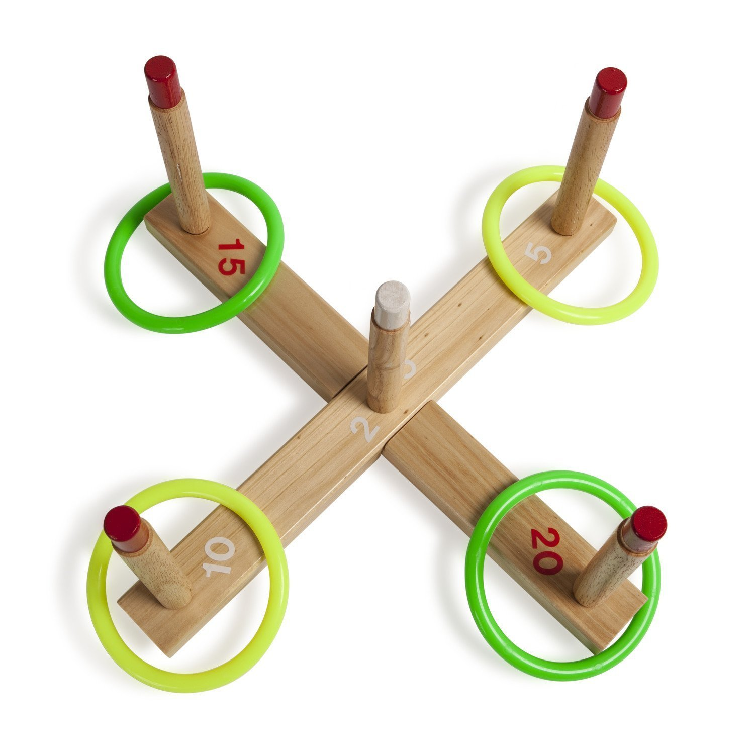 Bundle Includes 3 Items - Baden Champions Volleyball Badminton Set, Flickin' Chicken and Champion Sports Wooden Ring Toss Game by Baden, Champion Sports & Haywire Group (Image #4)