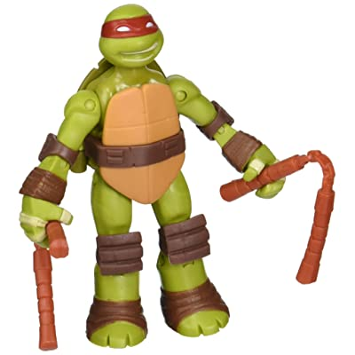 Teenage Mutant Ninja Turtles Battle Shell Michelangelo Action Figure: Toys & Games
