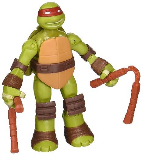 2012 *** BATTLE SHELL MIKE MICHAELANGELO *** TEENAGE MUTANT NINJA TURTLES TMNT Action- & Spielfiguren