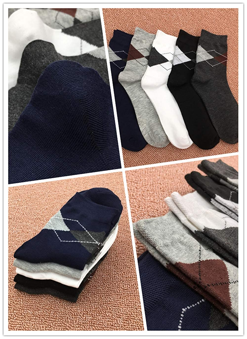Mens Dress Socks Men Dress Socks for Casual or Business Men/'s Dress Socks for Men Colorful Classic Argyle Dress Socks Men with Assorted Colors 5 Packs Crew Dress Socks for Men Shoes Size 6-11
