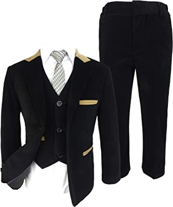 Designer Cavani Navy Blue Slim Fit Wedding Prom Page Boys Suit in 3 or 5 Piece
