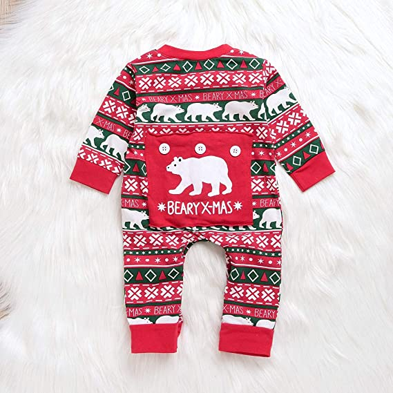 Newborn Baby Boy Body, ❤ Zolimx Bebés Niños Niña de Dibujos Animados Oso Navideño Navidad Carta Mameluco Trajes Monos: Amazon.es: Ropa y accesorios