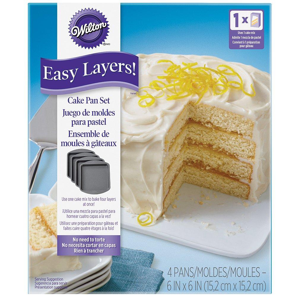 Amazon.com: (Set) Easy Layers Sqaure & Sheet Cake Pans - 6