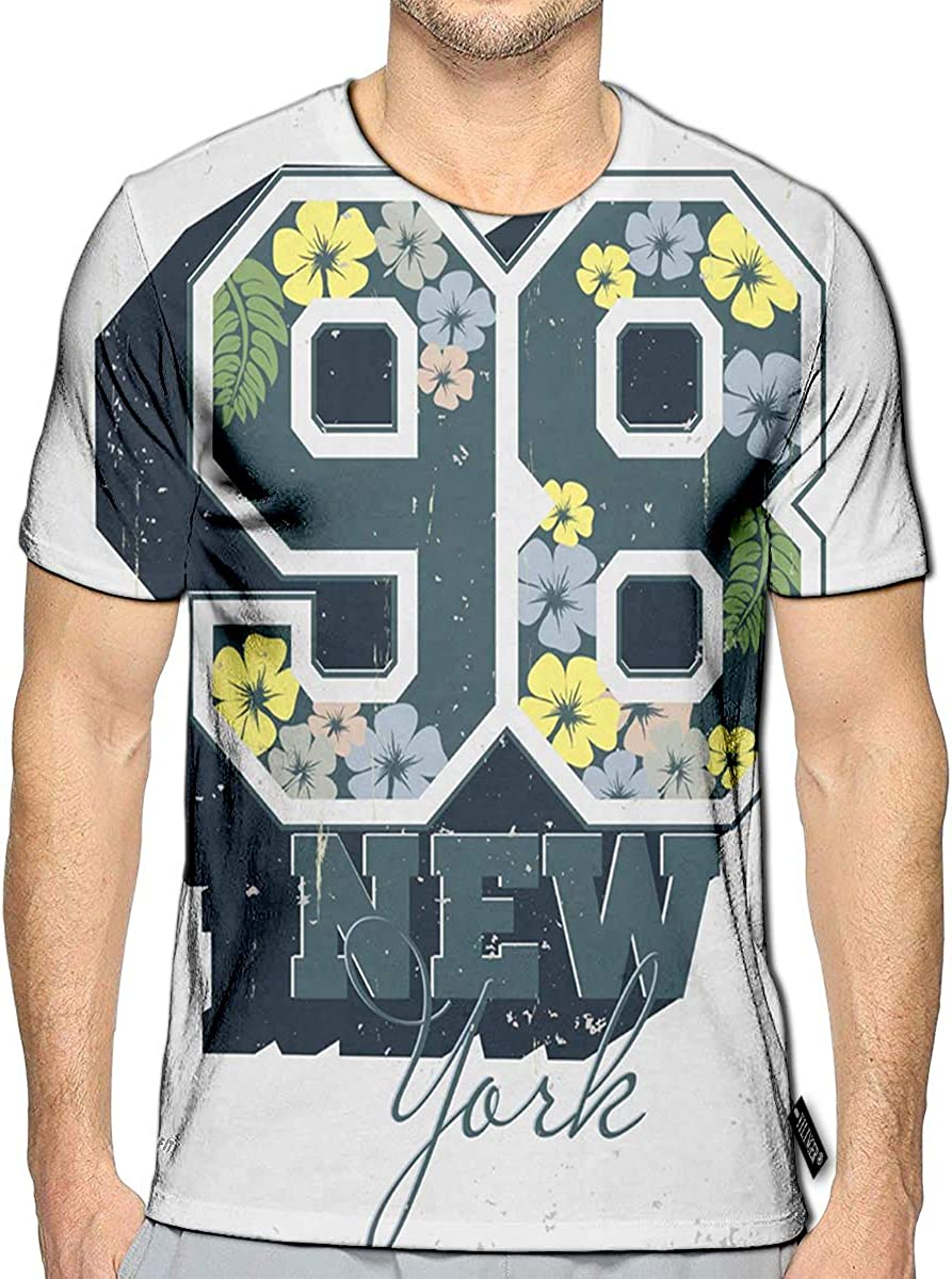 3D Printed T-Shirts Vintage Stamp Basketball Emblem Creative Short Sleeve Tops Tees