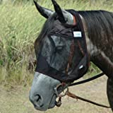 Cashel Quiet Ride Standard Horse Fly Mask No Ears or Nose - All Sizes