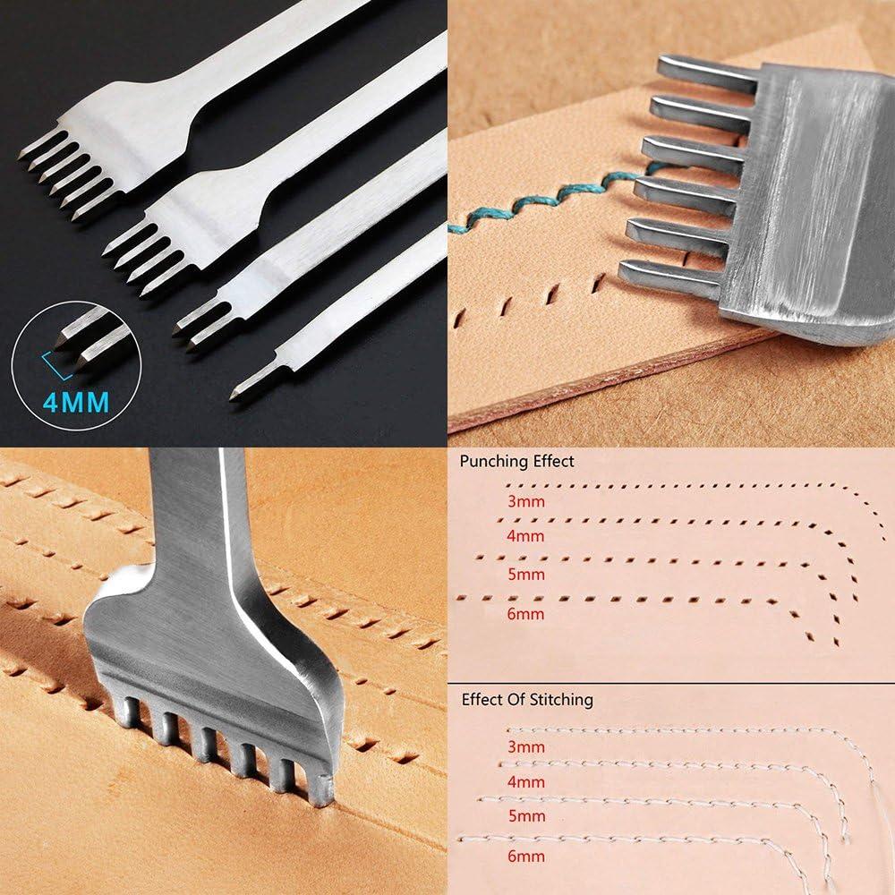 per lavori fai da te cinturini d/'orologio Set di 12 perforatrici rotonde e cave carta tela cinture dimensioni: da 1/mm a 10 mm cuoio plastica