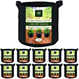 AROMA TREES Round Plant Grow Bags Heavy Duty Thickened Fabric Pot Grow Bags with Handles for Gardening Pots, Aeration Contain