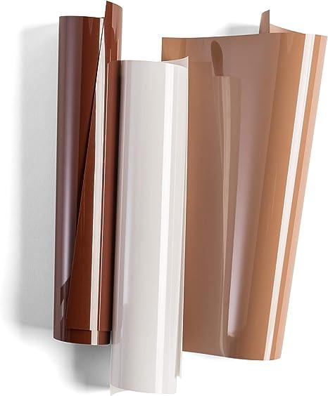 Amazon Com Cricut Everyday Iron On Vinyl Sheets 12 X 12 3 Diy Supplies Neutrals Sampler Beige White Brown Arts Crafts Sewing