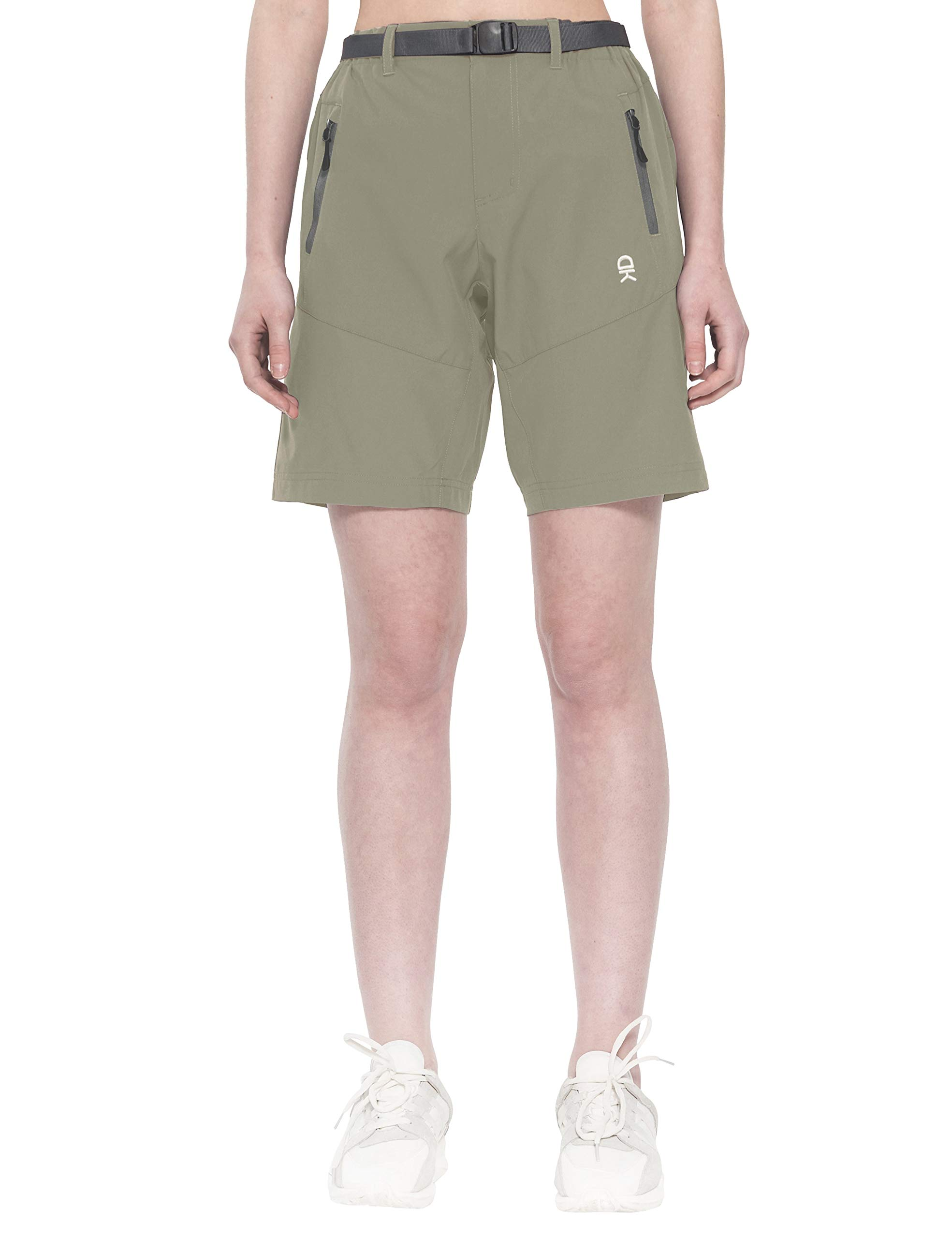 Little Donkey Andy Women's Stretch Quick Dry Cargo Shorts for Hiking, Camping, Travel Silver Sage Size XXL by Little Donkey Andy