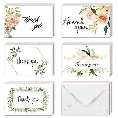 Amazon.com: Surtido de tarjetas de agradecimiento florales ...
