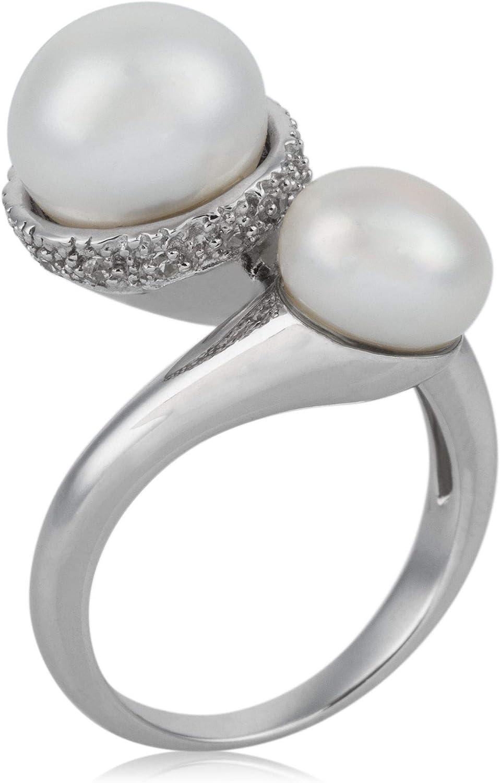 Córdoba Jewels | Anillos en Plata de Ley 925 con diseño Tú y Yo Perla Zirconium Silver