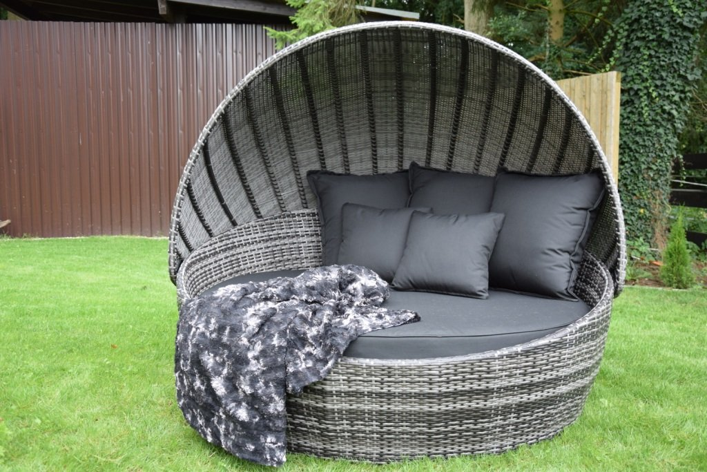sonneninsel polyrattan rattan wt 6001 grau rattan. Black Bedroom Furniture Sets. Home Design Ideas