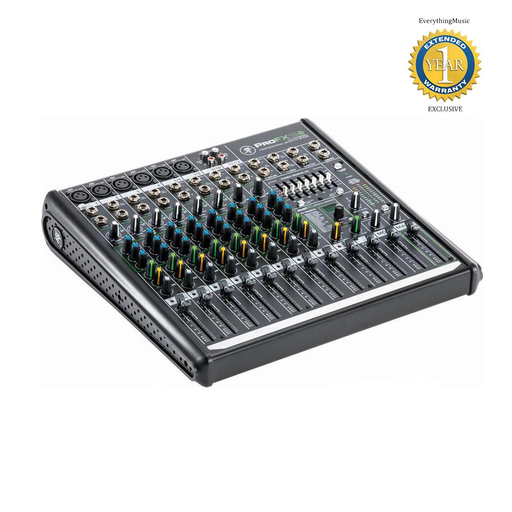 Mackie ProFX12v2 12-Channel Professional Effects Mixer with USB and 1 Year Free Extended Warranty