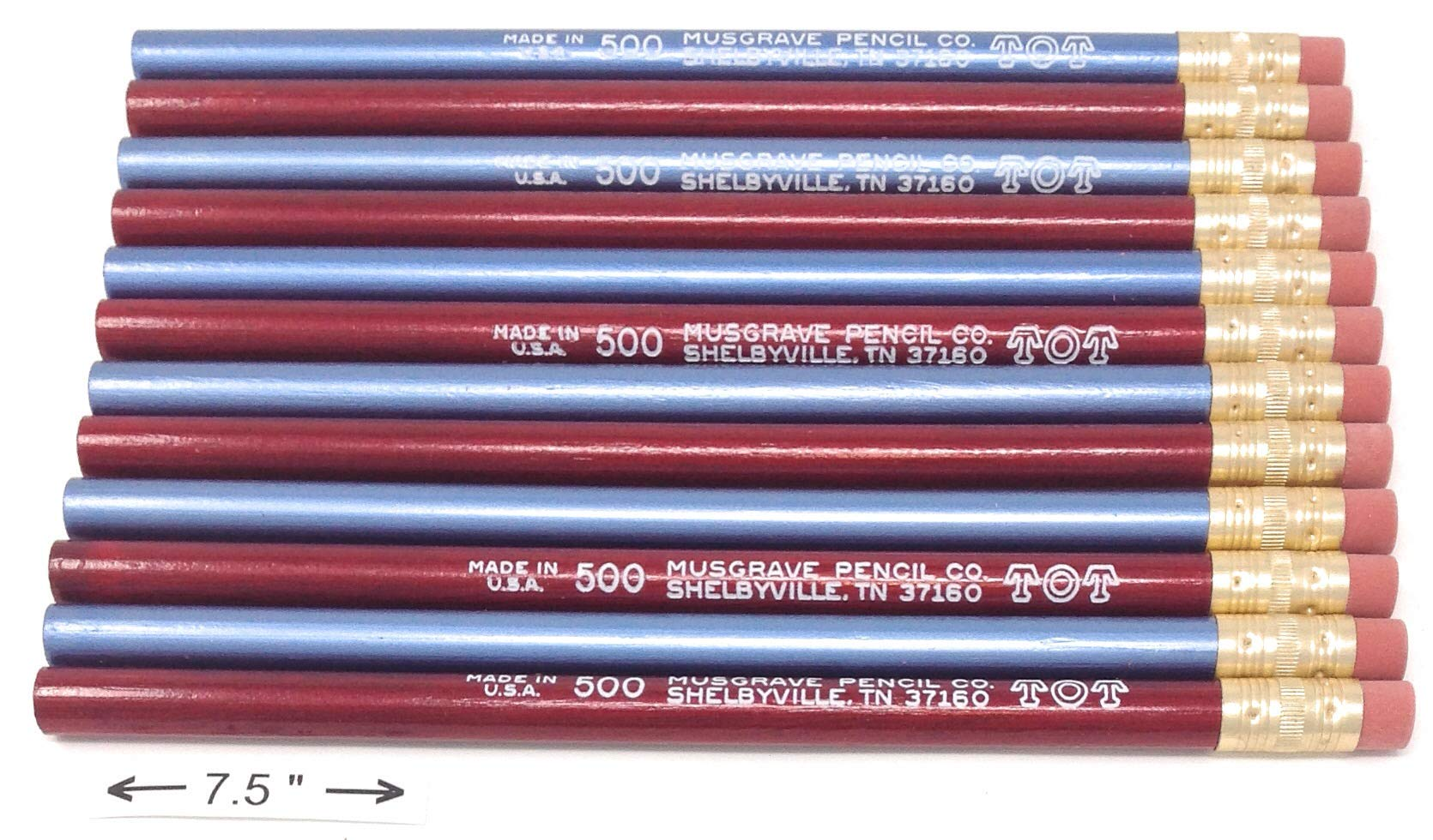 Jumbo TOT pencil, Round, 10mm Metallic Blue and Red, Med Soft Core (Box of 72)