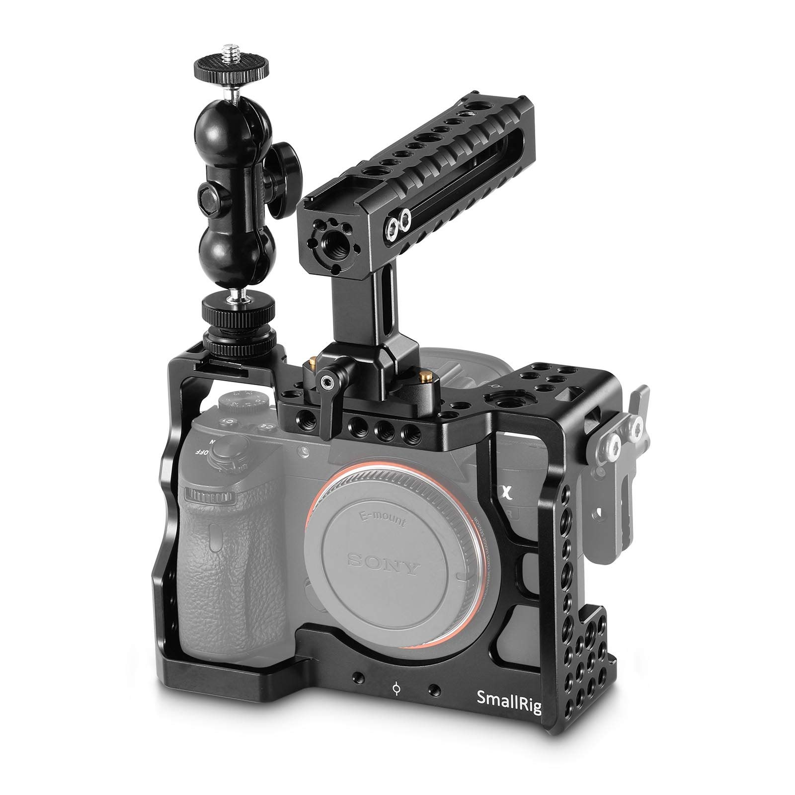 SMALLRIG A7RIII Cage Kit Rig for Sony A7RIII/A7III Camera with Top Handle, Ball Head - 2103 by SmallRig