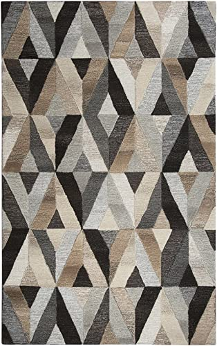 Rizzy Home Suffolk Collection Wool Area Rug