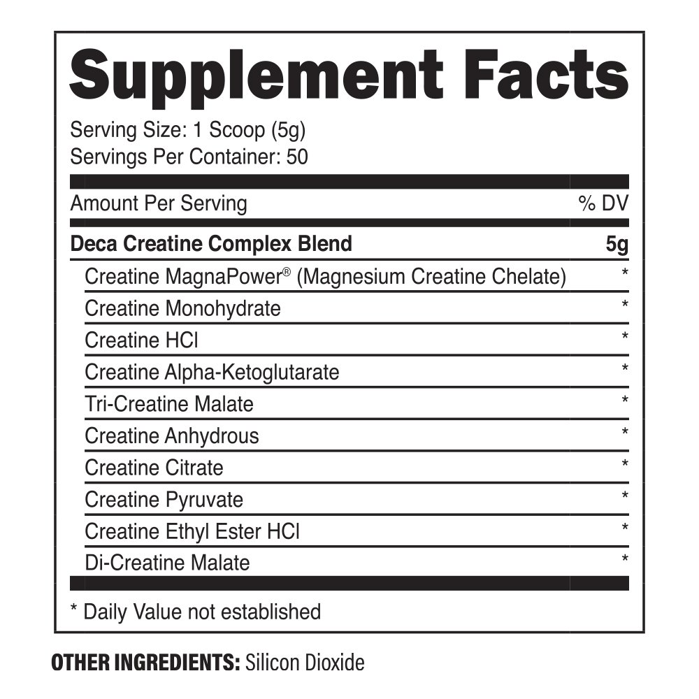 Decacor Creatine (2 Pack) - Best Creatine Powder - 10 Creatine Blend - Top Creatine Supplement - Enhance Muscles, Power and Recovery by XPI Supplements (Image #3)