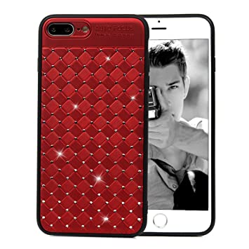 coque iphone 8 plus motif rose rouge