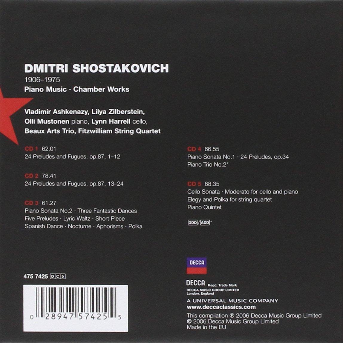 Shostakovich: Piano Music, Chamber Works