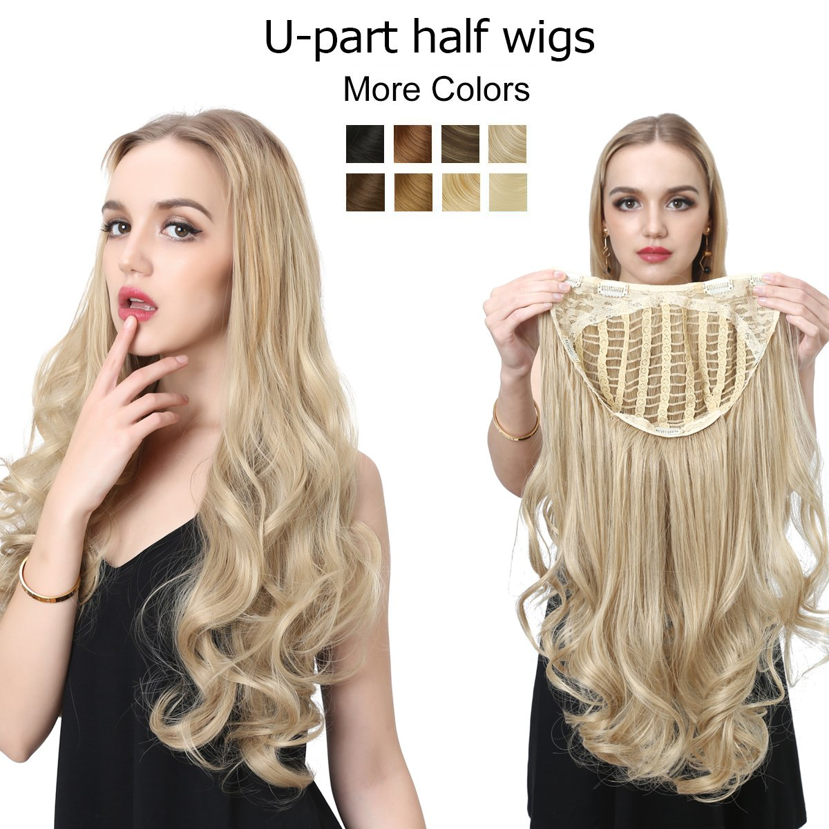 Amazon U Part Half Wig Clip In Hair Extension 24 Long Curly