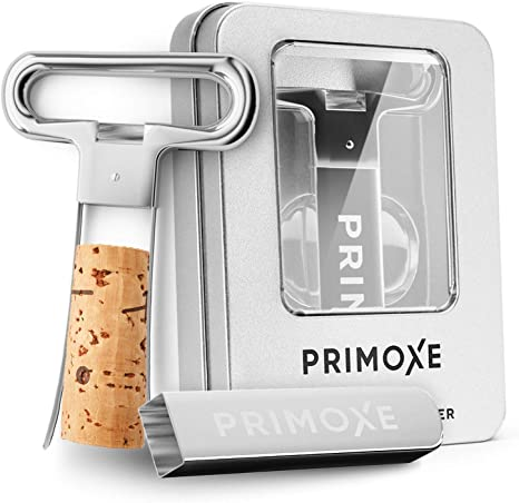 Amazon Com Primoxe Ah So Two Prong Wine Cork Remover With Bottle Opener Professional Stainless Steel Puller Extractor For Opening Vintage Collecting Perfect Gift For Connoisseurs Collectors To