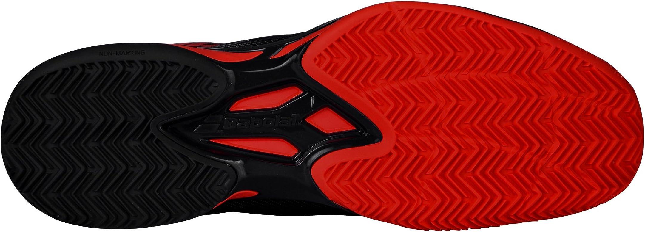 Babolat Jet Clay Zapatillas de Tenis para Hombre Gris/Rojo Talla:8 UK - 42 EU: Amazon.es: Zapatos y complementos