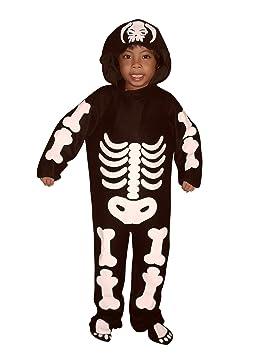 F70 Tamaño traje 4-5 años esqueleto para Halloween y Carnaval