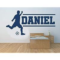 Nombre personalizado, futbolista, vinilo decorativo de pared, mural, calcomanía. Hogar, decoración de la pared…