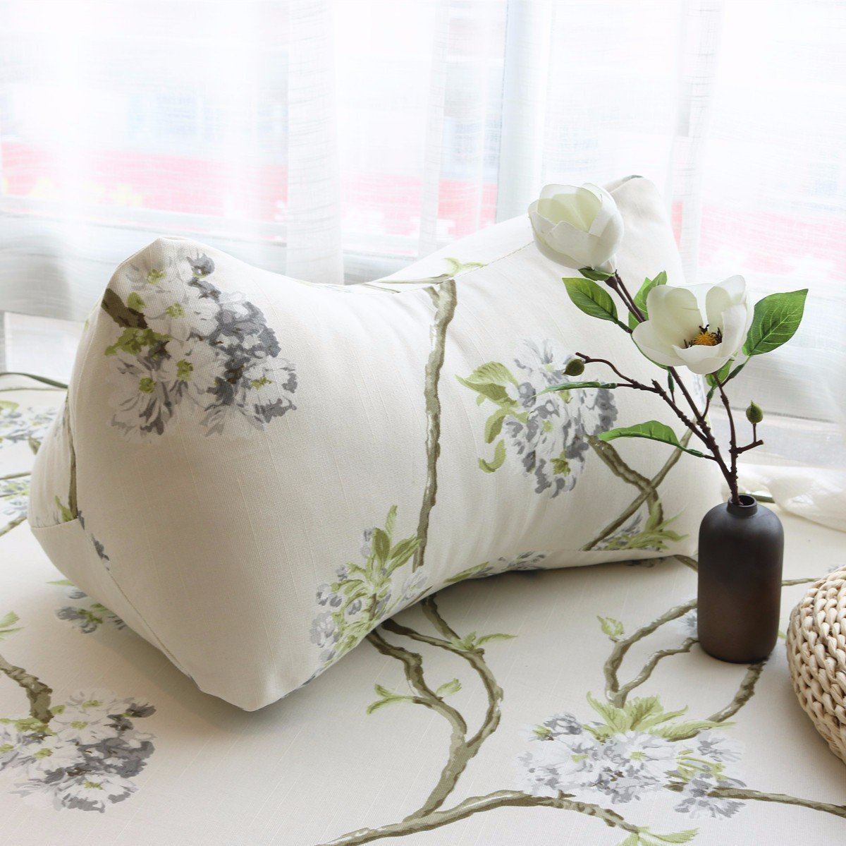HOMEE Country Style Bedroom Drift Pane Pillow Idyllic Leather Sofa Cushion the Bed Sleeping Pillow ,5555 Lunch,The bones Pillow