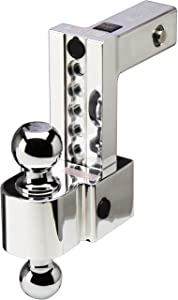 Fastway Flash ALBM DT-ALBM6600 Adjustable Dual Locking Aluminum Ball Mount with 6 Inch Drop, 2 Inch Shank, Built-in Locks, and Chrome Plated Balls